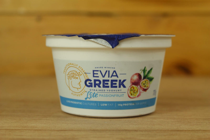 Evia Passionfruit Strained Greek Yoghurt 170g Dairy & Eggs > Yoghurt