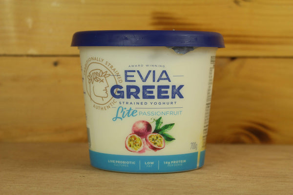 Evia Passionfruit Strained Greek Yoghurt 700g Dairy & Eggs > Yoghurt