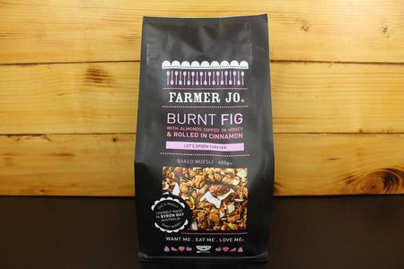 Farmer Jo Burnt Fig With Almond Dipped Honey Rolled In Cinnamon 400g Granola & Muesli