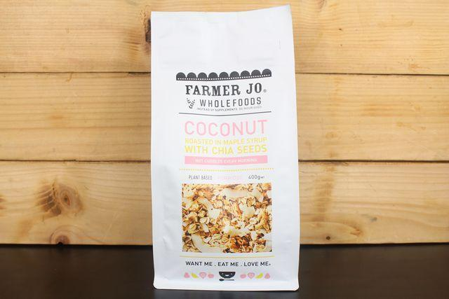 Farmer Jo Coconut Roasted Maple Syrup with Chia Seeds 400g Pantry > Granola, Cereal, Oats & Bars