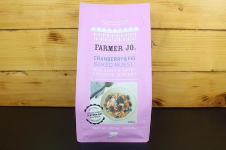 Farmer Jo Cranberry & Figs Muesli With Honey & Spiced Cinnamon Almonds 400g Granola & Muesli