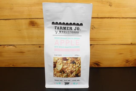 Farmer Jo Dried Granny Smith Green Apple with Roasted Almonds 400g Granola & Muesli