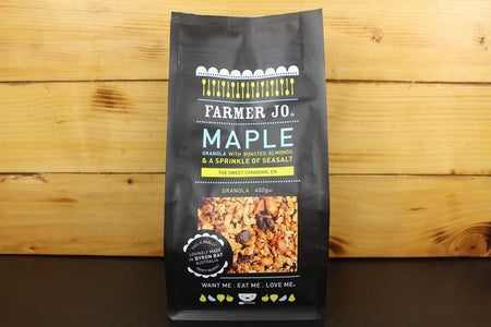 Farmer Jo Maple Granola With Roasted Almonds & Sea Salt 400g Granola & Muesli