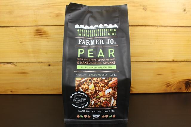 Farmer Jo Pear with Roasted Pecan Nuts & Ginger Chunks 400g Granola & Muesli