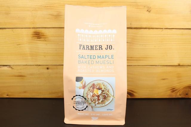 Farmer Jo Salted Maple Muesli With Cashew, Roasted Almonds 400g Granola & Muesli