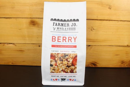 Farmer Jo Squished Dried Strawberry, Blueberry & Cranberry 400g Granola & Muesli