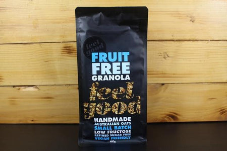 Feel Good Foods Fruit Free Granola 400g Pantry > Granola, Cereal, Oats & Bars