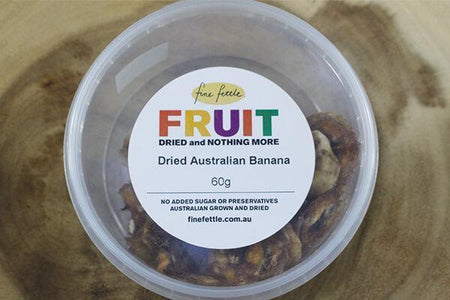 Fine Fettle FF Dried Au Bananas 60g Pantry > Dried Fruit & Nuts