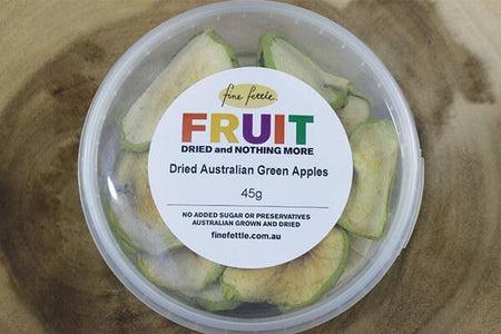 Fine Fettle FF Dried Au Green Apple 45g Pantry > Dried Fruit & Nuts