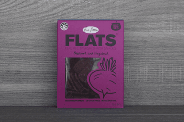 Fine Fettle Foods Beetroot & Hazelnut Flats 80g Pantry > Biscuits, Crackers & Crispbreads