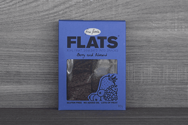Fine Fettle Foods Berry & Almond Flats 80g Pantry > Biscuits, Crackers & Crispbreads