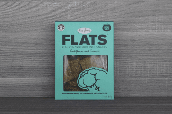 Fine Fettle Foods Cauliflower and Tumeric Flats 80g Pantry > Biscuits, Crackers & Crispbreads