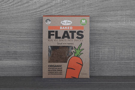 Fine Fettle Foods Organic Carrot with Tumerc Flats 80g Pantry > Biscuits, Crackers & Crispbreads