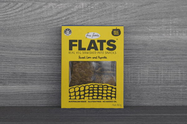 Fine Fettle Foods Sweet Corn & Paprika Flats 80g Pantry > Biscuits, Crackers & Crispbreads