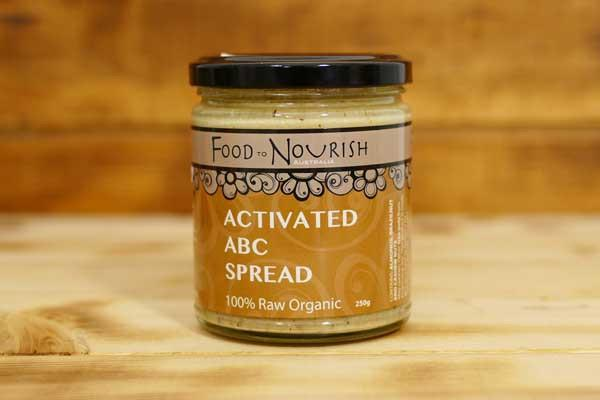 Food To Nourish Organic Activated ABC Spread 250g Pantry > Nut Butters, Honey & Jam