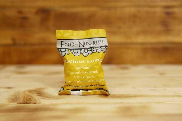 Food To Nourish Organic Luscious Lemon Bliss Ball 45g Pantry > Cookies, Chips & Snacks