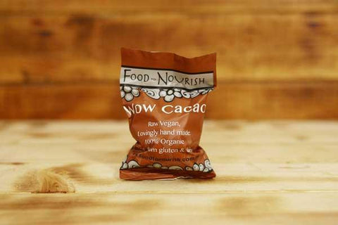 Food To Nourish Organic Wow Cacao Bliss Ball 45g Pantry > Cookies, Chips & Snacks