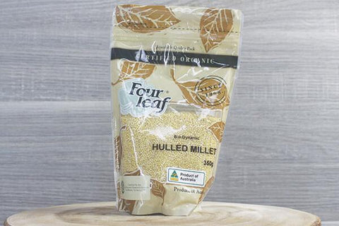 Four Leaf Organic Millet Hulled 350g Pantry > Grains, Rice & Beans