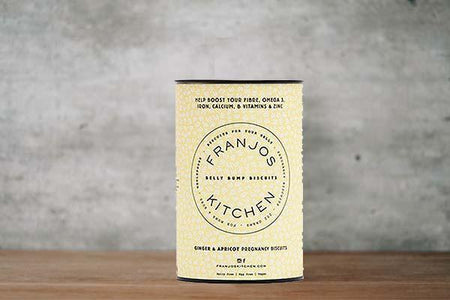 Franjos Kitchen Belly Bumps Activated Charcoal & Murray River Pink Salt Pregnancy Crackers Pantry > Confectionery