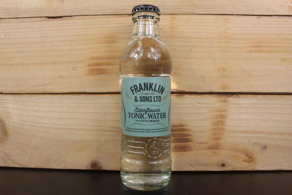 Franklin & Sons Elderflower & Cucumber Tonic 200ml Drinks > Soft Drinks & Mixers