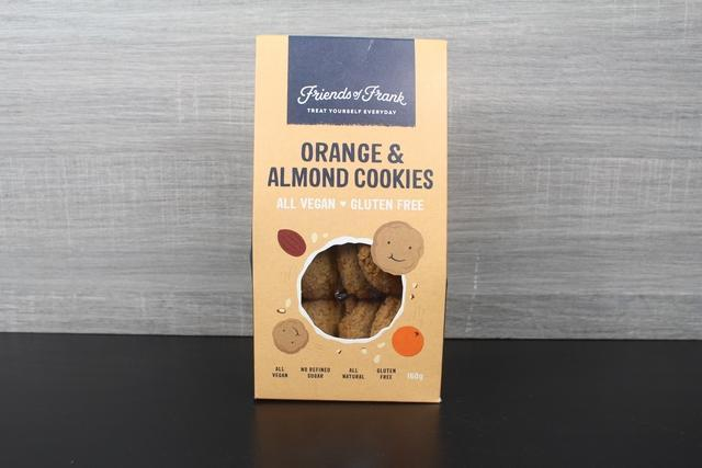 Friends Of Frank Orange & Almond Cookies 160g Box Pantry > Cookies, Chips & Snacks