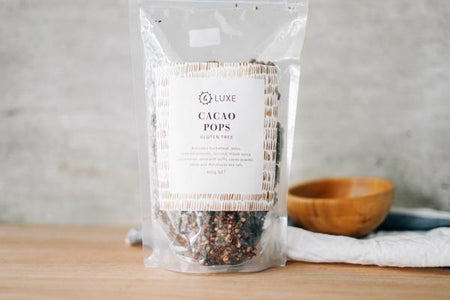 G Luxe Cacao Pops Muesli 400g Pantry > Granola, Cereal, Oats & Bars