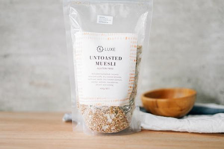 G Luxe Untoasted Muesli 400g Pantry > Granola, Cereal, Oats & Bars