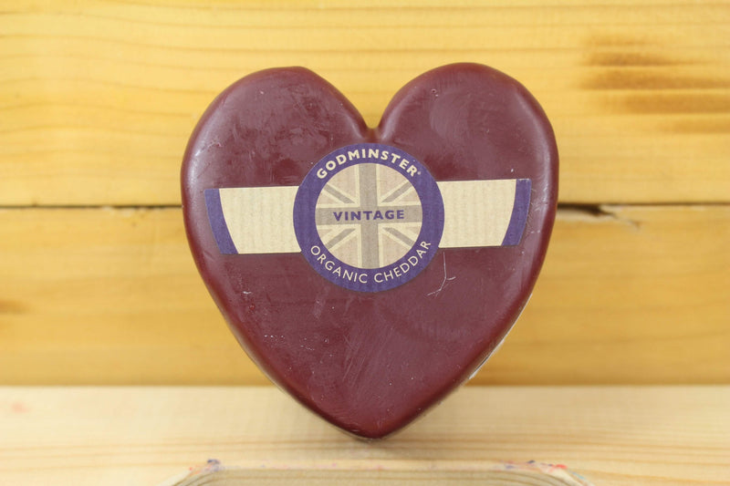 Godminster Org Godminster Heart Vintage Cheddar 200g waxed Dairy & Eggs > Cheese