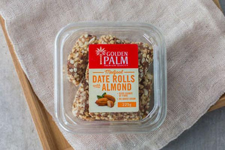 Golden Palm Date Rolls with Almond 225g Pantry > Dried Fruit & Nuts