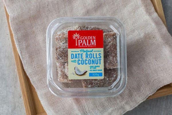Golden Palm Date Rolls with Coconut 225g Pantry > Dried Fruit & Nuts