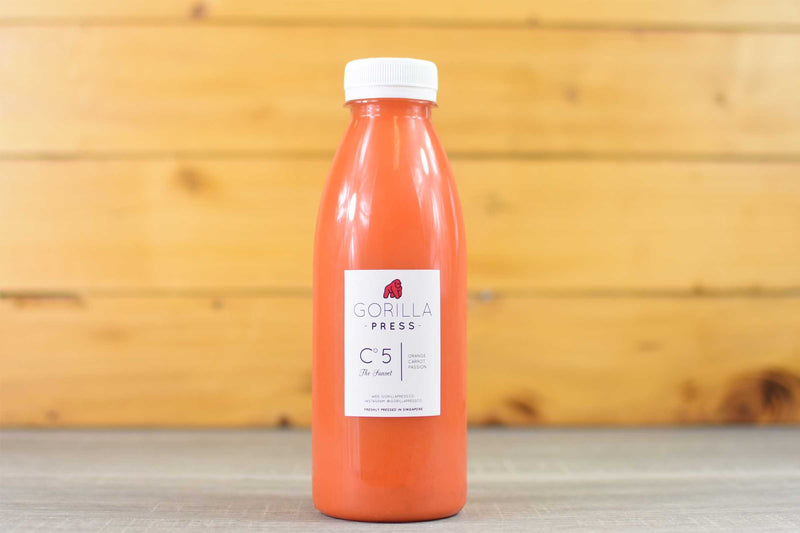 Gorilla Press The Sunset - Orange Carrot & Passion Juice 500ml Drinks > Juice, Smoothies & More