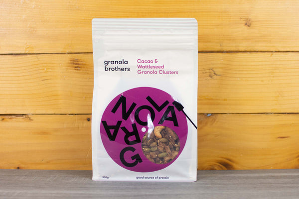 Granola Brothers Cacao & Wattleseed Granola Cluster 300g Pantry > Granola, Cereal, Oats & Bars