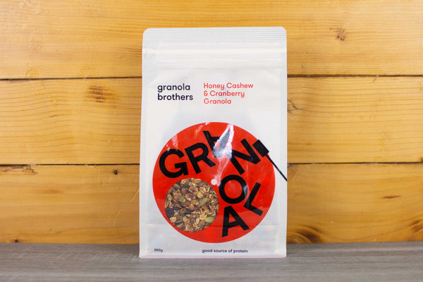 Granola Brothers Honey Cashew & Cranberry Granola 350g Pantry > Granola, Cereal, Oats & Bars