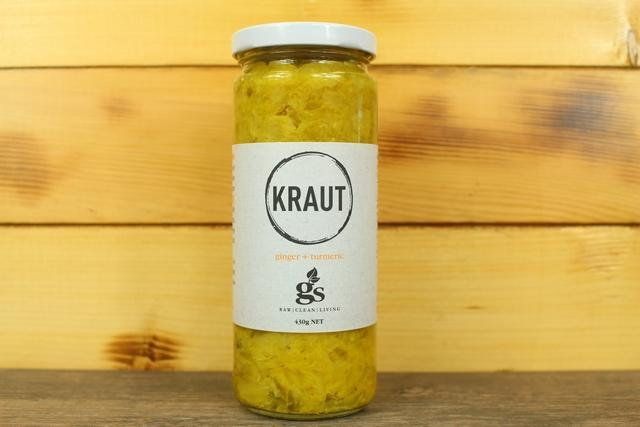 Greenst Kitchen Ginger & Tumeric Kraut 430g Pantry > Antipasto, Pickles & Olives