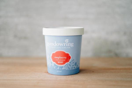 Gundowring Finest Ice Cream Raspberry Ice Cream 500ml Freezer > Ice Cream