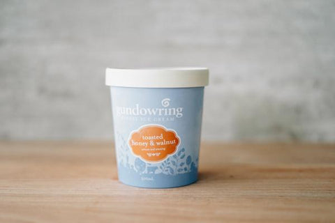 Gundowring Finest Ice Cream Toasted Honey & Walnut Ice Cream 500ml Freezer > Ice Cream