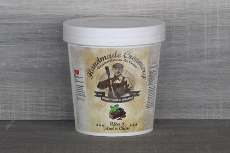 Handmade Creamery After 8 Mint and Chips Gelato 16oz Freezer > Ice Cream
