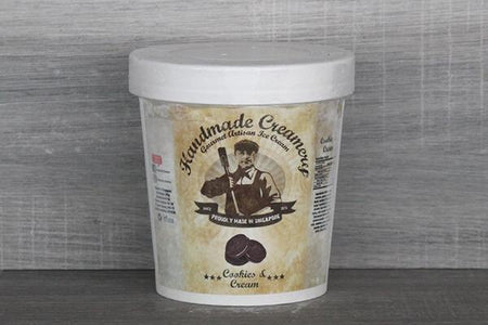 Handmade Creamery Cookies & Cream Gelato 16oz Freezer > Ice Cream
