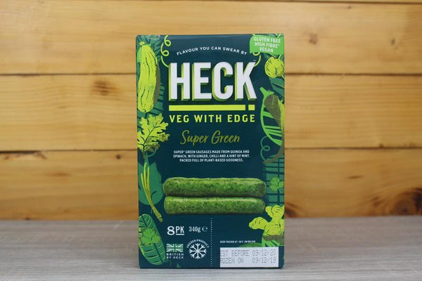 Heck Super Green Vegan Sausages 340g Freezer > Meat Alternatives