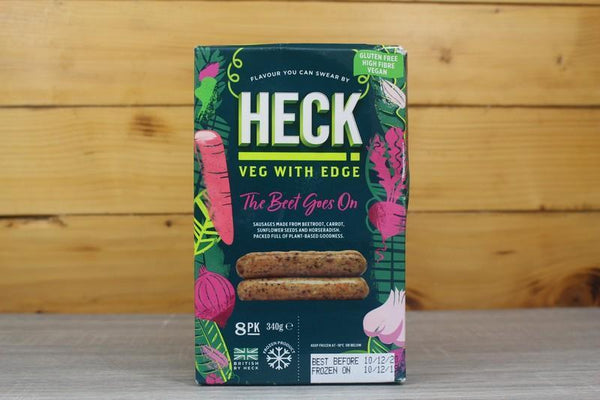 Heck The Beet Goes On Vegan Sausages 340g Freezer > Meat Alternatives