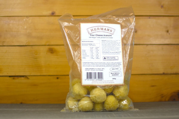 Hermans Four Cheese Arancini 350g Freezer > Ready-Made Meals