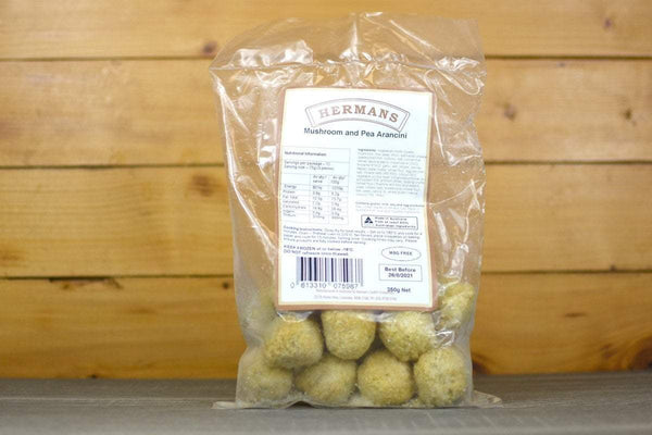 Hermans Mushroom & Pea Arancini 350g Freezer > Ready-Made Meals
