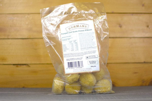 Hermans Pumpkin & Goat Cheese Arancini 350g Freezer > Ready-Made Meals