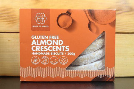 House Of Biskota GF Almond Crecent Biscuit 200g Pantry > Biscuits, Crackers & Crispbreads
