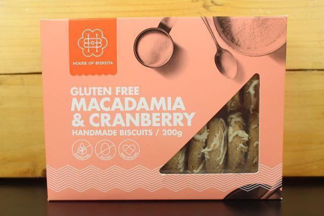 House Of Biskota GF Macadamia & Cranberry Biscuit 200g Pantry > Biscuits, Crackers & Crispbreads
