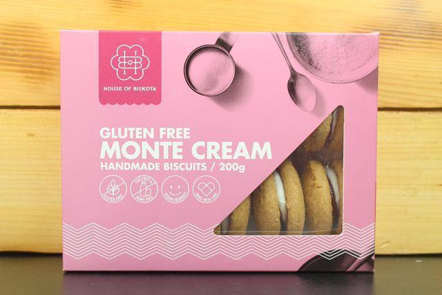 House Of Biskota GF Monte Cream Biscuit 200g Pantry > Biscuits, Crackers & Crispbreads