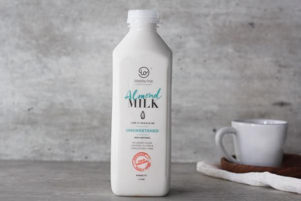 Inside/Out Almond Milk Unsweetened 1L* Drinks > Milks & Dairy Alternatives