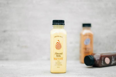 Inside/Out Ginger Tumeric Flavoured Almond Milk 350ml Drinks > Milks & Dairy Alternatives