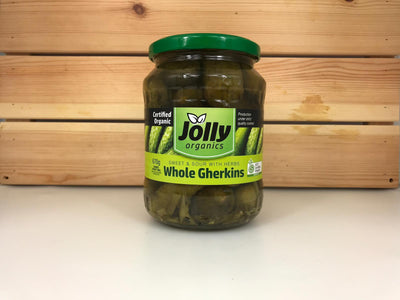 Jolly Jolly Organic Gherkins 670g Pantry > Antipasto, Pickles & Olives