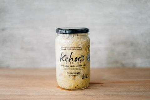 Kehoe's Kitchen Organic Traditional Sauerkraut 650g Pantry > Antipasto, Pickles & Olives